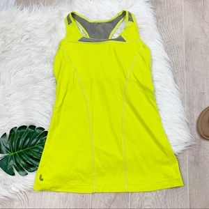 Lole Yellow Racerback Athletic Tank Top D1302